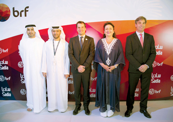 Abu Dhabi and Brazilian officials at the first anniversary of the BRF plant in Kizad
